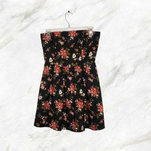 FOREVER 21 floral tube top mini dress small